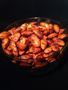 chili lime almonds, paleo, snack, healthy snack, little sprouts kitchen