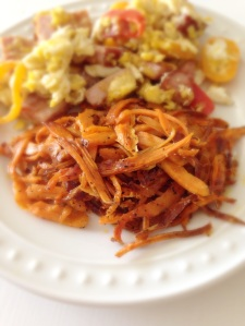 yam hashbrowns, breakfast, yams, hashbrowns, little sprouts kitchen