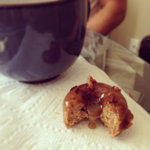 Maple Frosted Donuts, bacon sprinkles, paleo, paleo donuts, little sprouts kitchen, gluten free