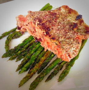 pecan crusted salmon, seafood, little sprouts kitchen, paleo, gluten free