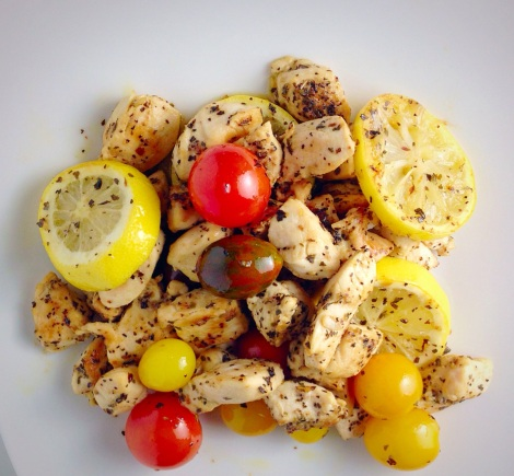 lemon basil chicken, heirloom tomatoes, paleo, simple meals, little sprouts kitchen