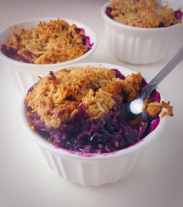 blueberry crisp, little sprouts ktichen, gluten free, paleo
