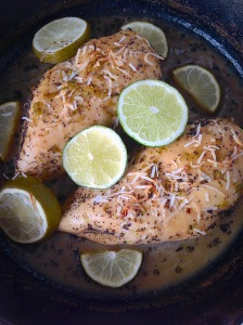 coconut lime chicken, little sprouts kitchen, paleo, dinner, coconut, lime,